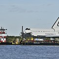 Space Shuttle Inspiration On A Barge by Bradford Martin