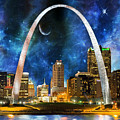 Spacey St. Louis Skyline by Frankie Cat
