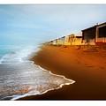 Spanish Beach Chalets by Mal Bray
