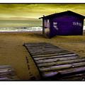 Spanish Beach Hut by Mal Bray