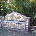 Spanish Bench by Valerie Ornstein