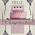Spanish Birthday Greeting Card by Viola Loiva Ekong