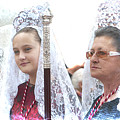 Spanish Ladies In Their Mantillas by Brenda Kean