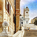 Spanish Steps In Rome by Weston Westmoreland