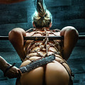 Spanking - Fine Art Of Bondage by Rod Meier
