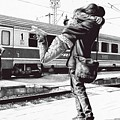 Sparkle At The Train Station - Ballpoint Pen Art by Andrey Poletaev