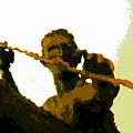 Spearfishing Man by David Lee Thompson