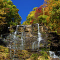 Spectacular Fall Color At Amicalola Falls by Barbara Bowen