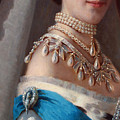Historical Fashion, Royal Jewels On Empress Of Russia, Detail by Tina Lavoie