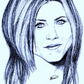 Speed Drawing Of Jennifer Aniston  by Alban Dizdari