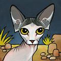 Sphinx Cat by Leanne Wilkes