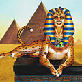 Sphinx On Plinth by Melissa A Benson