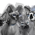 Sphynx Group No 02 by Maria Astedt