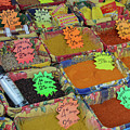 Spices At The Vieux Nice Market by Allen Sheffield