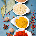 Spices On Blue   by Anastasy Yarmolovich
