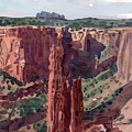 Spider Rock Overlook by Donald Maier
