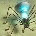 Spiderlamp by Leonardo Digenio
