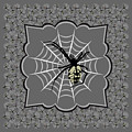 Spiders And Webs, Gray And Black by MM Anderson