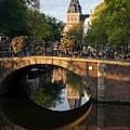 Spiegelgracht Canal In Amsterdam. Netherlands. Europe by Bernard Jaubert