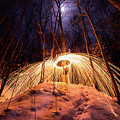 Spinning Steel Wool In Snow by Cris Ritchie
