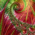 Spiralling Fractal Three by Mo Barton