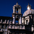 Spire And Cupola St Agnese In Agone Piazza Navona Rome Italy by Michael Walters