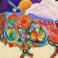 Spirit Buffaloo Totem by Sherry Shipley