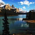 Spirit Island Jasper Canada by Bob Christopher