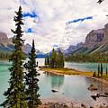 Spirit Island View Alberta Canada by George Oze
