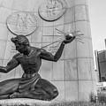 Spirit Of Detroit And Renaissance Center  by John McGraw
