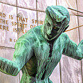 Spirit Of Detroit Bronze Statue by Christopher Arndt