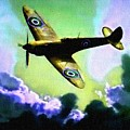 Spitfire In The Clouds H B by Gert J Rheeders