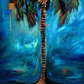 Splashy Palm Azure by Linda Olsen