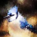 Splatter Art - Blue Jay by Kerri Farley