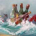 Splattered Wine by Miroslaw  Chelchowski