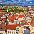 Split Old City Center Aerial View by Brch Photography