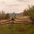 Split Rail Fence by Alexander Helwig Wyant