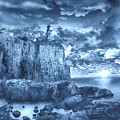 Split Rock Lighthouse Blue by Bekim Art