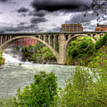 Spokane Falls And Monroe Bridge by Lee Santa