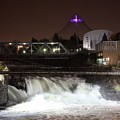 Spokane Falls Night Scene by Carol Groenen