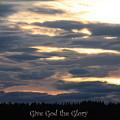 Spokane Sunset - Give God The Glory by Carol Groenen