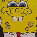 Sponge Square Yellow Brown Pants Cartoon by Jill Christensen