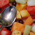Spoon With Food by Michael L Gentile