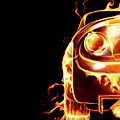 Sports Car In Flames by Oleksiy Maksymenko