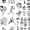 Sports Figures Collage by Murphy Elliott
