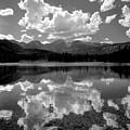 310204-bw-sprague Lake Reflect Bw  by Ed  Cooper Photography