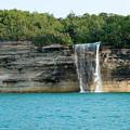 Spray Falls On The Water by Linda Kerkau