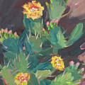 Spring And Prickly Pear Cactus by Diane McClary