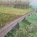 Spring At The Railroad Cut Gettysburg by Joann Renner
