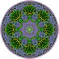 Spring Bloom Colors Mandala by Beth Sawickie